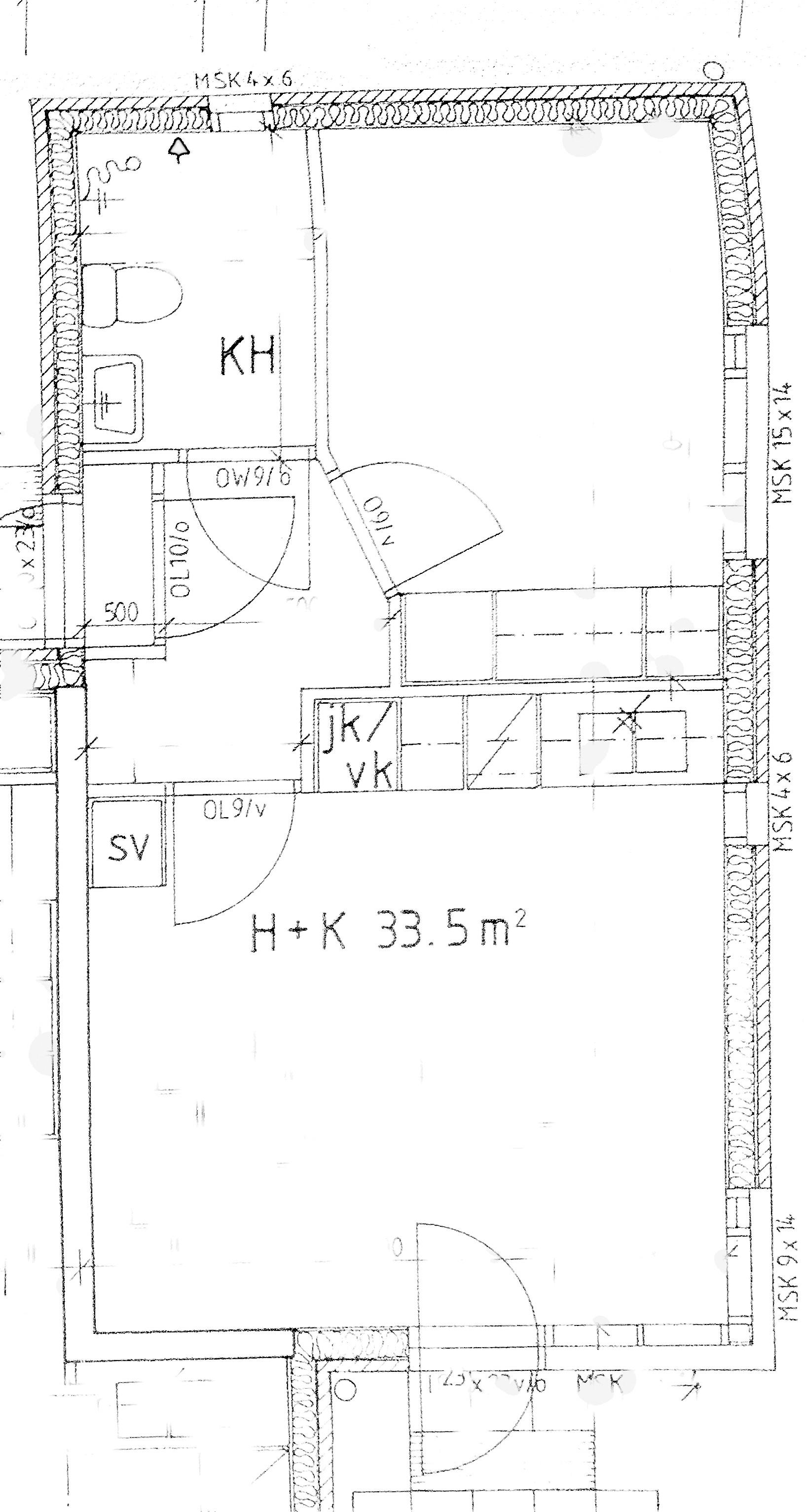 NivaOnni yksio33 m2